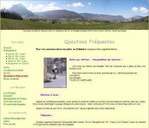 Page FAQ, version 2.00 de WWW.GITE-BAUGES.COM